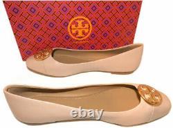 Tory Burch Chelsea Cap Toe Ballet Flats Goan Sand Leather Ballerina Shoes 8