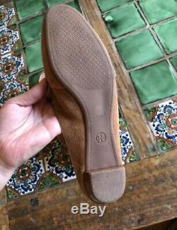 Tory Burch Chestnut Brown Salinas Tassel Loafer Slip On Flats Shoes 9.5