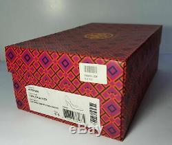 Tory Burch Classic DOrsay 100MM Pump Iridescent Snake/Dune in Purple/Black 8.5M