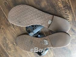 Tory Burch Dark Gray Leather Miller Thongs Sandals Flats Sz 10M