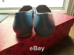 Tory Burch Dip-Dye Logo Leather Ballet Flats size 6.5M NWT