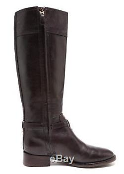Tory Burch Eloise Leather Riding Boots Dark Brown Women Size 7M 1054