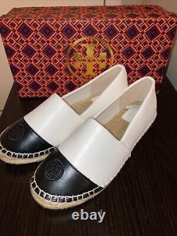 Tory Burch Espadrille Flat Shoes Size 6 M Black/white