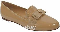 Tory Burch Flat Trudy Slipper Shoes Soft Patent Calf Camelia Pink $224 size 8.5