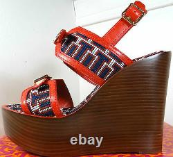 Tory Burch Florian High Wedge Sandals Shoes