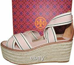 Tory Burch Frieda Espadrilles Platform Sandals Pink Blush Shoes Pumps 7 37