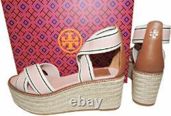 Tory Burch Frieda Espadrilles Platform Sandals Pink Blush Shoes Pumps 8 38