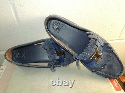 Tory Burch'Gemini Link' Blue Suede Driving Moccasin/Loafer Shoe Women Size 11M