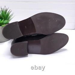 Tory Burch Gemini Link Boots Coconut Brown Women's Shoes Size 8.5M EUC