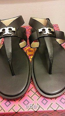 Tory Burch Gigi Flat Sandals Black Size 9NIB