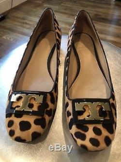Tory Burch Gigi Pump Leopard Print Size 10