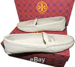 Tory Burch Ivory MAYNARD Driving Loafers Flat Moccasins Ballet Shoe 10 40