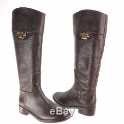 Tory Burch Joanna Women's Shoes Brown Leather Riding Boots Size 7 M