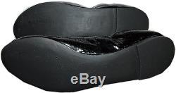 Tory Burch Jolie Ballerina Flats Black Logo Minnie Reva Leather Ballet Shoe 9