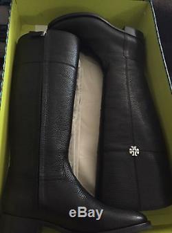 Tory Burch Jolie Black Riding Boots Size 8 Nib/ Dust Bag
