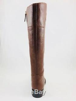 Tory Burch Junction Riding Boot Tumbled Almond Brown Leather Sizes 9 NIB