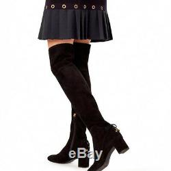 Tory Burch Laila Over the Knee Boot Stretch Suede Black Size 8.5 $598