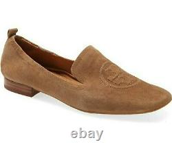 Tory Burch Leigh Brown Silk Suede Loafer Brand New Slip On Shoe