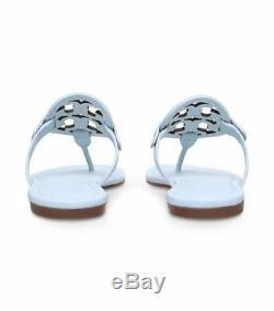 Tory Burch MILLER Sandal Womens Flip Flops Light Blue Size 8.5 Preowned