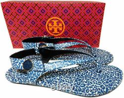 Tory Burch MINNIE Travel Thongs Sandals Tory Navy Clouded Ballet Shoes 9