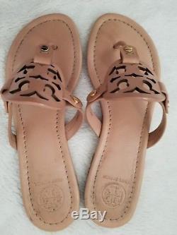 Tory Burch Makeup Leather Miller Thongs Sandals Flats Sz 7M