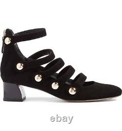 Tory Burch Mary Jane Multi Strap Buttons Pumps Back Zipper MARISA Shoes 6
