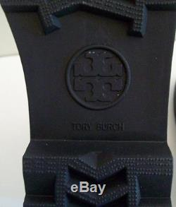 Tory Burch Maureen Rainboots Black Size 9 New In Box Authentic