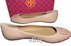 Tory Burch Melinda Ballet Flats Powder Make Up Coated Leather Ballerina Shoes 10