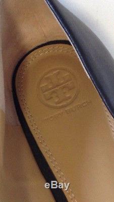 Tory Burch Melinda Black Leather Slip On Flat Shoe S/n 49132 Women Size 9.5 M