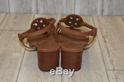 Tory Burch Miller 55mm Sandal Women's Size 8 Royal Tan