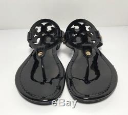 4bc66f3b5 Tory Burch Miller Black Patent Leather Flip Flop Sandals Womens Size 8.5 M