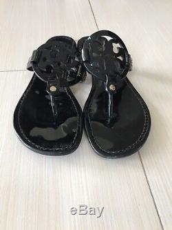 Tory Burch Miller Black Women Flip Flops Size 10