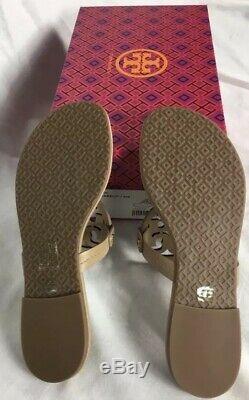 Tory Burch Miller Flip Flip Sandals 7.5 Light Makeup NewithBox BEAUTIFUL