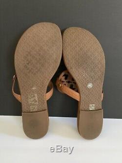 Tory Burch'Miller' Flip Flop Leather (Women) Vintage Vachetta Color Sz 8 M