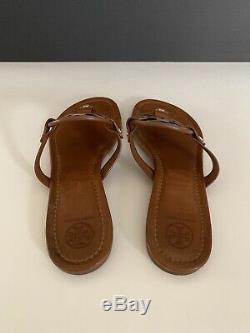 Tory Burch'Miller' Flip Flop Leather (Women) Vintage Vachetta Color Sz 9 M