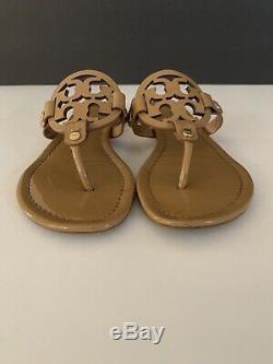 Tory Burch'Miller' Flip Flop Patent Leather (Women) Sand Sz 7.5
