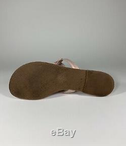 Tory Burch Miller Flip Flop Sandal Sea Shell Pink Patent Leather Size 9 MSRP$198