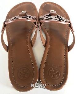 Tory Burch Miller Flip Flop Vintage Vachetta Leather Size 7.5 M