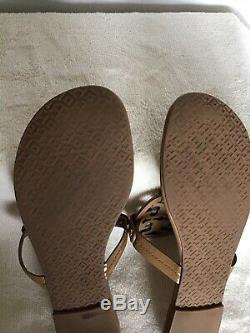 Tory Burch Miller Flip Flops Sand Patent Size 12M