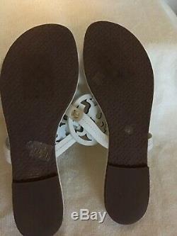 Tory Burch Miller Flip Flops Size 11M Bleach Leather