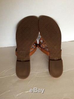 Tory Burch Miller Flip Flops Size 13M Vintage Vachetta Leather