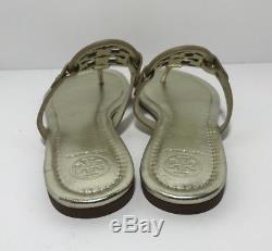 Tory Burch Miller Gold Leather Flip Flop Sandals Size 7.5M