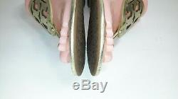 Tory Burch Miller Leather Gold Sandal Thong Size 9