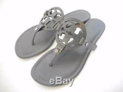 Tory Burch Miller Leather Sandals Dark Grey Size 9 EXCELLENT