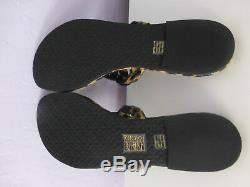 Tory Burch Miller Leopard Patent Leather Flat Thong Sandal Size 9 #40173 New