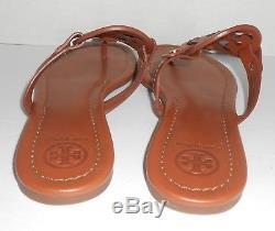 Tory Burch Miller Logo Leather Sandals Brown(Vachetta) Size 8