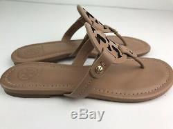 Tory Burch'Miller' Makeup Leather Flip Flop Sandals Size 6.5