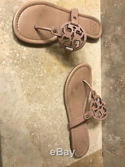 Tory Burch Miller Makeup Leather Flip Flop Sandals Size 8.5 US Authentic