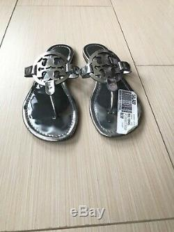 Tory Burch Miller Mirror Metallic Women Flip Flops Size 8.5