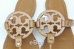 Tory Burch Miller Nude Beige Patent Leather Sandal Sz 9 M